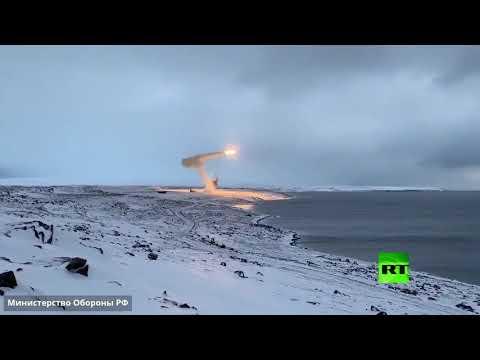 شاهد إطلاق صاروخ أونيكس المجنح من منظومة باستيون نحو بحر بارينتس