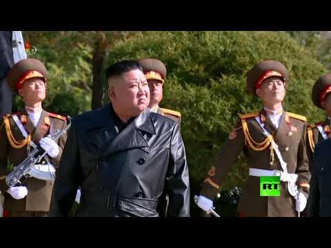 شاهد زعيم كوريا الشمالية يزور مقبرة جنود صينيين قتلوا خلال الحرب الكورية