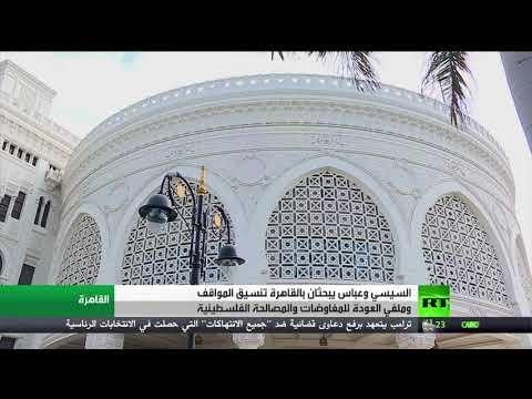شاهد السيسي وعباس يبحثان في القاهرة تنسيق المواقف وملفي العودة للمفاوضات والمصالحة