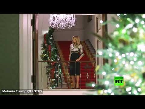 شاهد ميلانيا ترامب تزين البيت الأبيض