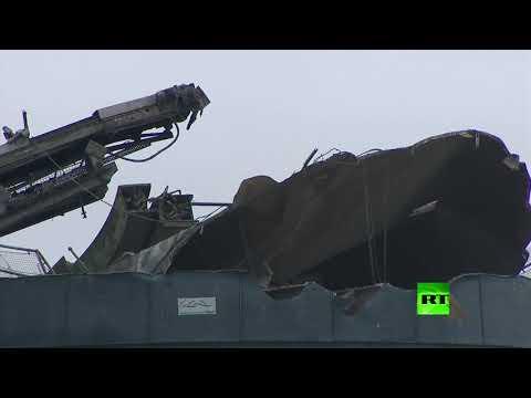 شاهد انفجار في مستودع قرب مدينة برستل البريطانية وأنباء عن مفقودين