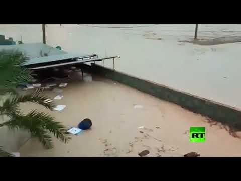 شاهد سيول جارفة وفيضانات عارمة تجتاح جنوبي إيران