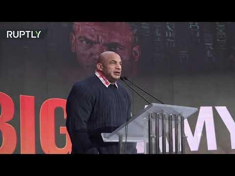 شاهداستقبال أسطورى للبطل العالمي بيغ رامي بعد عودته إلى القاهرة