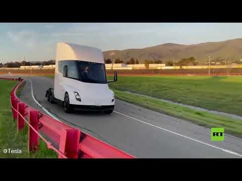 شاهد شركة تيسلا الأميركية تختبر أول شاحنة كهربائية لها