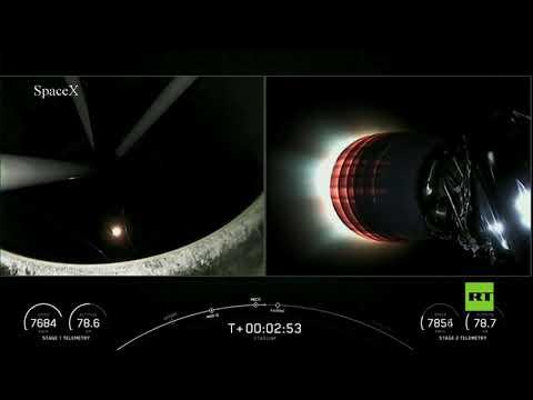 شاهد شركة سبيس إكس تطلق مجموعة جديدة من أقمار ستارلينك