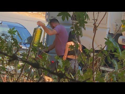 فتاة لبنانية تحصل على البنزين مقابل قبلة من سائق الصهريج